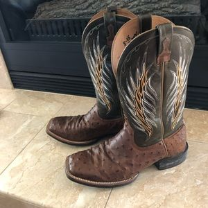 Ostrich skin square toe Ariat brand new boots NWOT